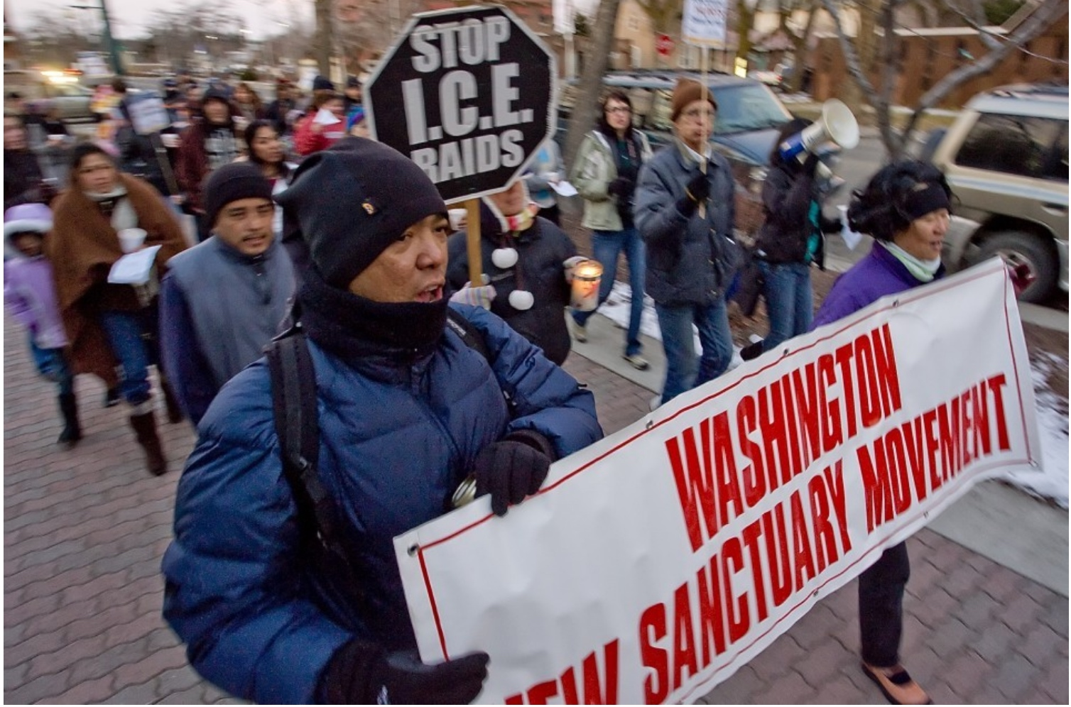sanctuary movement parade