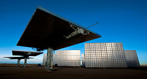 concentrating photo voltaic solar power plant