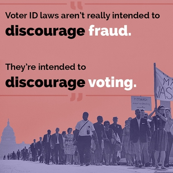 voter id laws discourage voting narrow