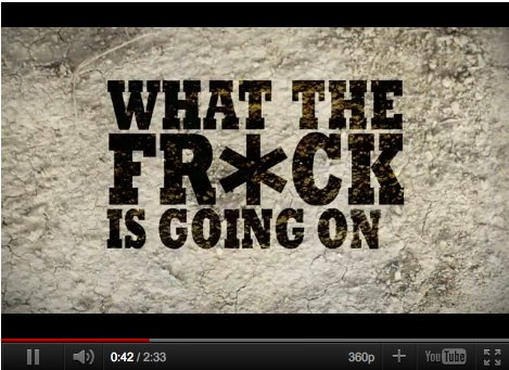 what the frack is going on music video